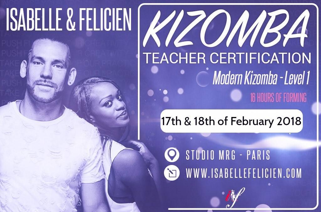 Certification professeurs kizomba Isabelle & Felicien - Niveau 1